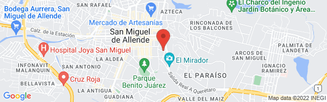 Property 1243 Map in San Miguel de Allende