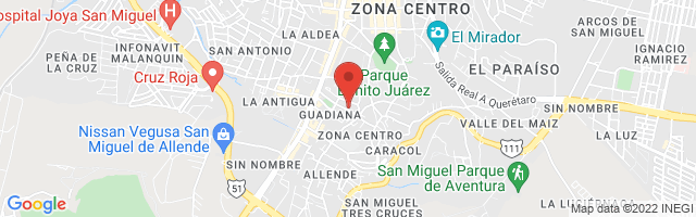 Property 2443 Map in San Miguel de Allende