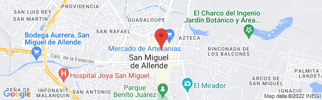 Property 2773 Map in San Miguel de Allende