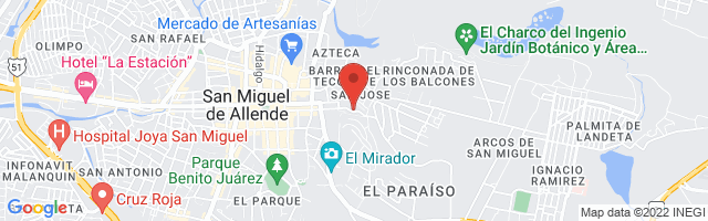 Property 2794 Map in San Miguel de Allende