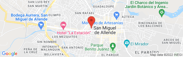 Property 2834 Map in San Miguel de Allende