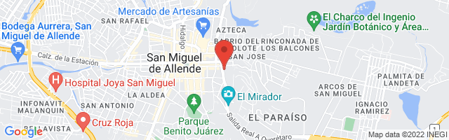 Property 2848 Map in San Miguel de Allende