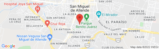 Property 2882 Map in San Miguel de Allende