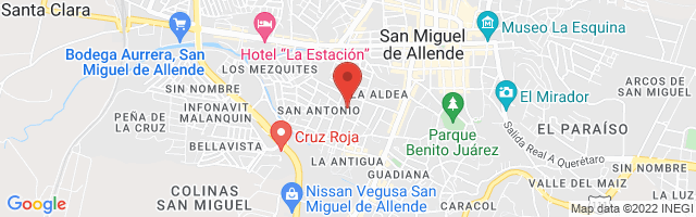 Property 2891 Map in San Miguel de Allende