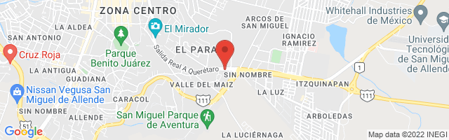 Property 3033 Map in San Miguel de Allende