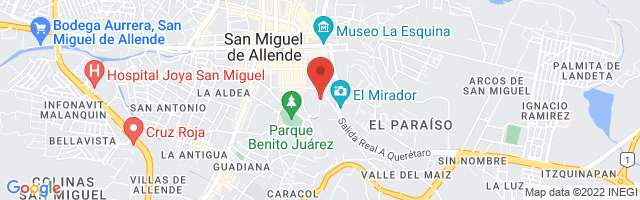 Property 3067 Map in San Miguel de Allende