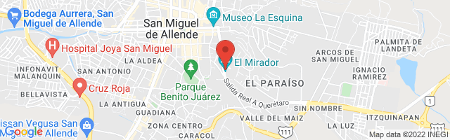 Property 3077 Map in San Miguel de Allende