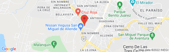 Property 3212 Map in San Miguel de Allende