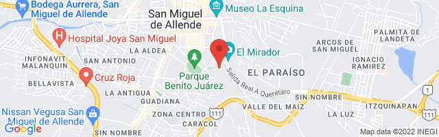Property 3274 Map in San Miguel de Allende