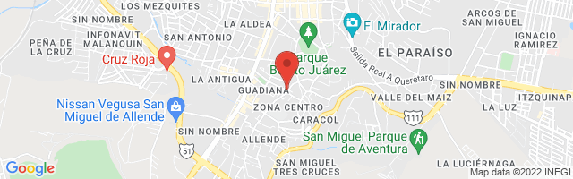 Property 3361 Map in San Miguel de Allende
