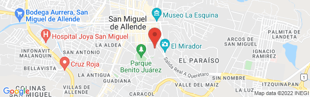 Property 3381 Map in San Miguel de Allende