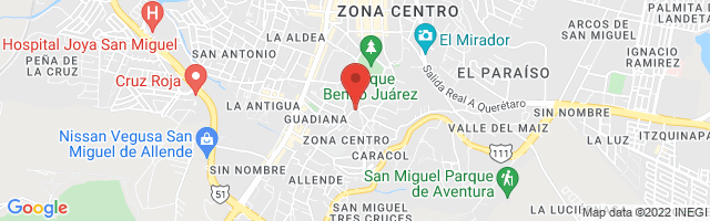 Property 3525 Map in San Miguel de Allende