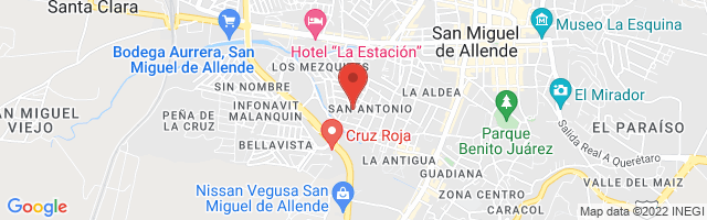 Property 3542 Map in San Miguel de Allende