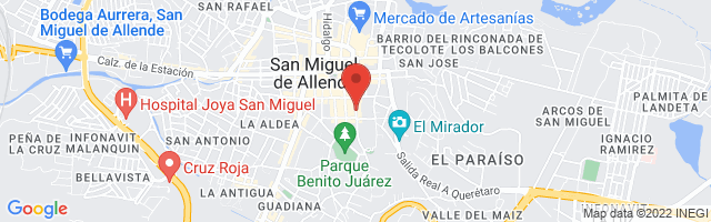 Property 3734 Map in San Miguel de Allende