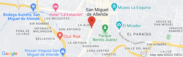 Property 3860 Map in San Miguel de Allende