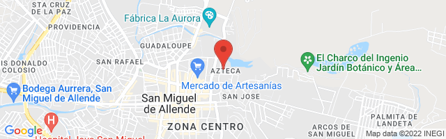 Property 3865 Map in San Miguel de Allende