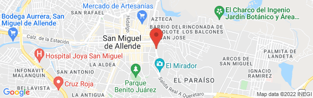 Property 3987 Map in San Miguel de Allende