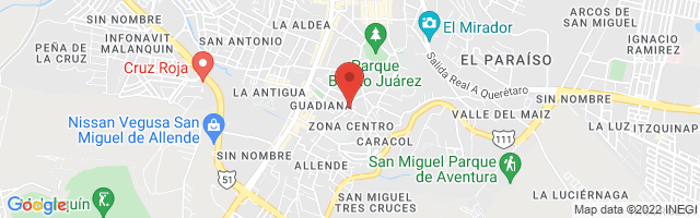 Property 4050 Map in San Miguel de Allende