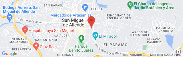Property 4145 Map in San Miguel de Allende