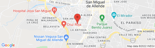 Property 4686 Map in San Miguel de Allende