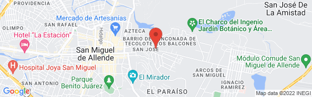 Property 4862 Map in San Miguel de Allende