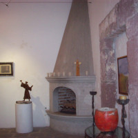 Showroom in fireplace