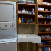 Part of the pantry and laundry