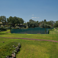 Hotel grounds and tennis courts